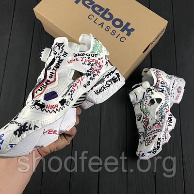 f7b50e781a54 Новинка Женские кроссовки Reebok InstaPump Fury x Vetements Graffiti