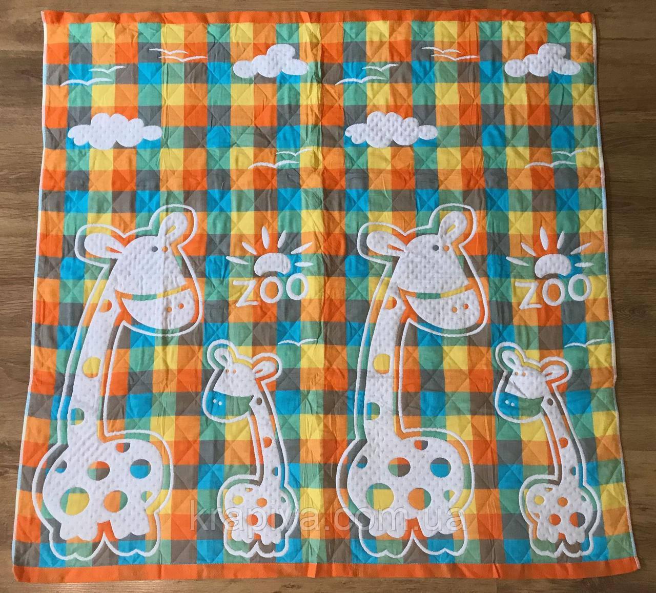 Одеяло льняное детское стеганное 110*110 см