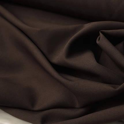 Костюмная ткань габардин шоколадный, фото 2