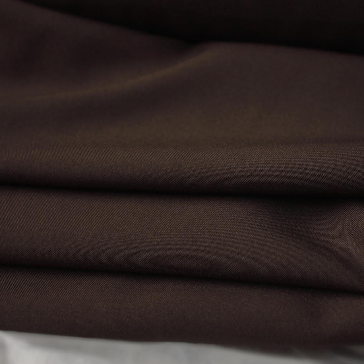 Костюмная ткань габардин шоколадный
