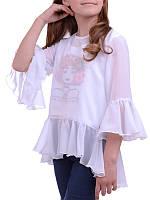 Детская блузка Лаванда для девочки (рост 122-140)