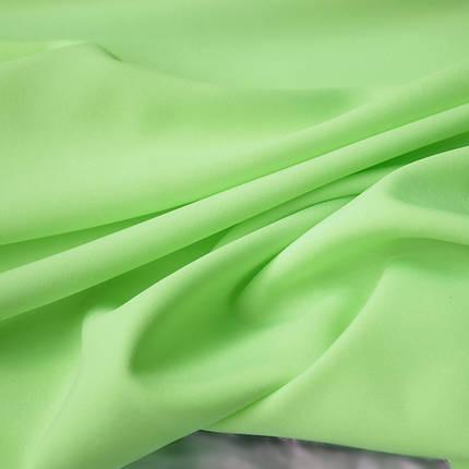 Костюмная ткань габардин ярко-салатовый, фото 2