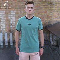 Мужская футболка HARD НШВ оливковая, фото 1