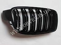 Решетка радиатора BMW 3-series F30 двойные ламели (ноздри BMW F30)