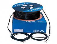 Нагревательный кабель двужильный на бобине со сплошным экраном для кровель, желобов и водосточных труб DEVIsnowТМ (DTCE) мощность при 220/230 В