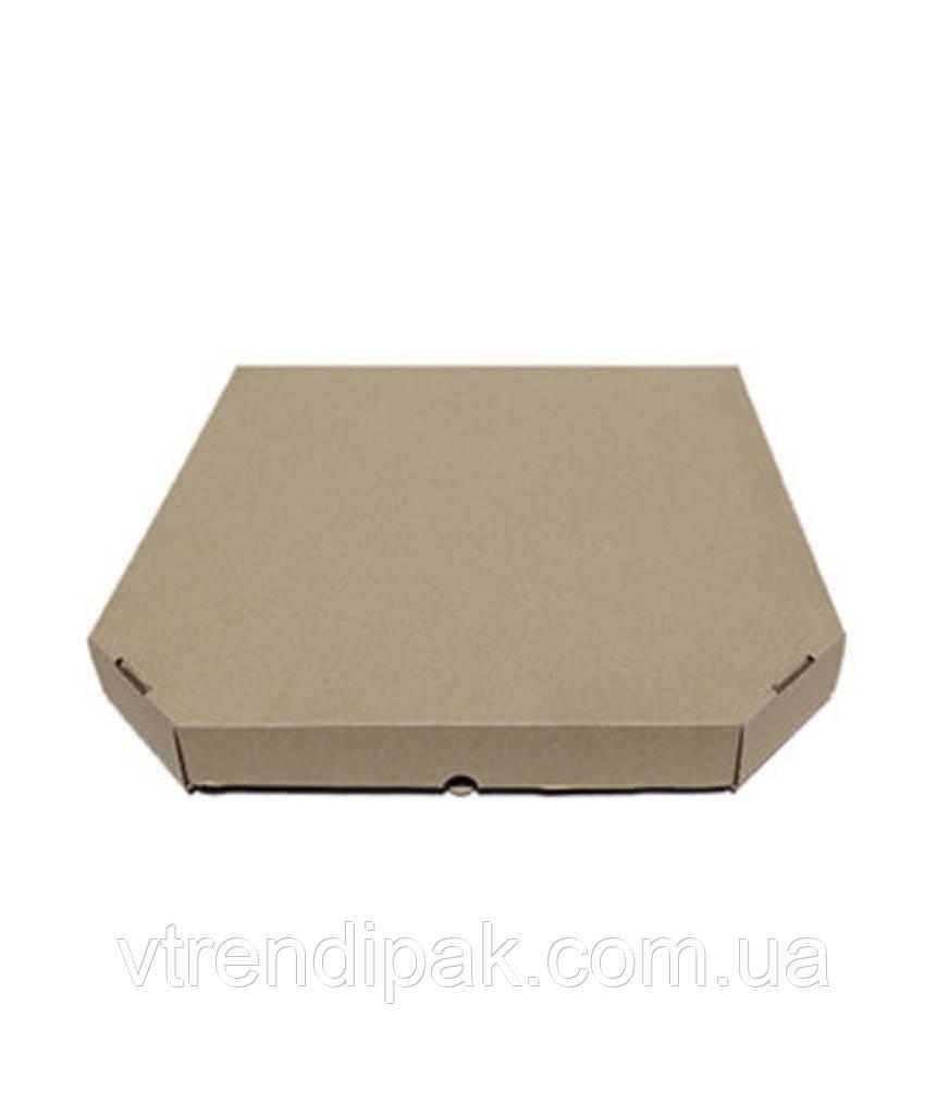Коробка для піци, хачапурі 400*400*40 бурий