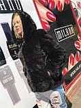 Женская норковая шуба  автоледи с капюшоном большие размеры, фото 3
