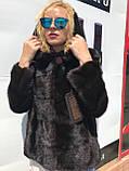Женская норковая шуба  автоледи с капюшоном большие размеры, фото 2