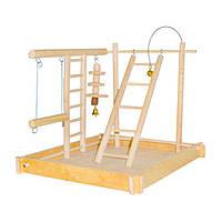 Игровая площадка для попугаев с дерева 20х30х25 см