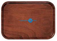 Прямоугольный деревянный поднос с шероховатой поверхностью РН556016