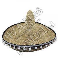 Шляпа Сомбреро солома 60см