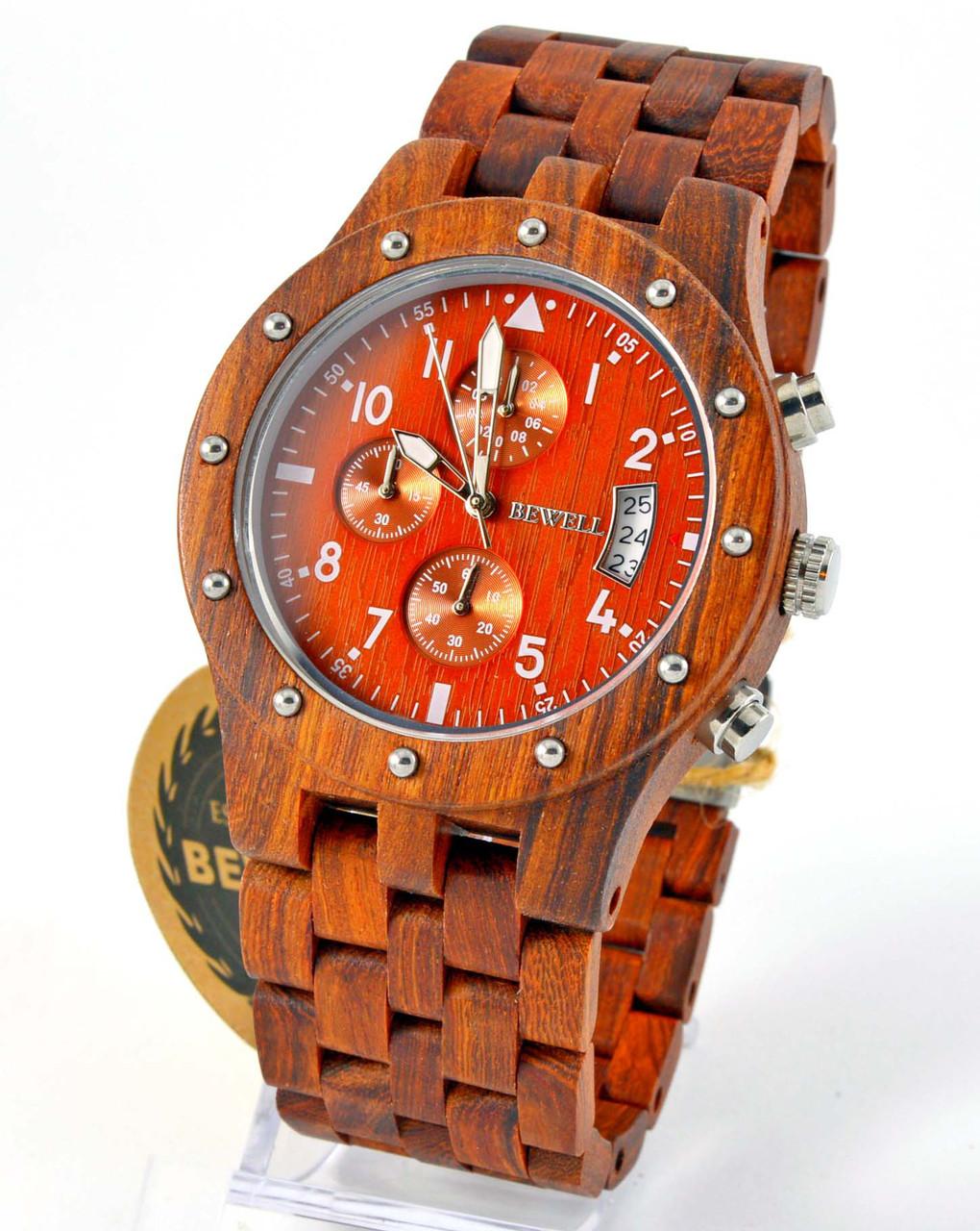 Часы из дерева Bewell