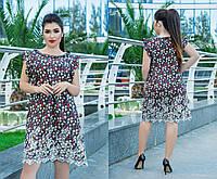 Платье, свободного кроя штапельное, отличный летний вариант, два цвета, р.50,52,54,56,58,60 код 5651О