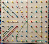 Математический планшет. Резиночки. 10х10