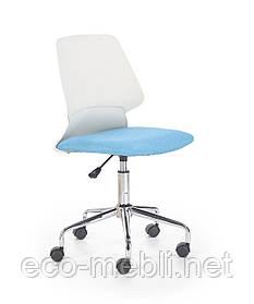 Дитяче поворотне крісло Skate biało-niebieski Halmar