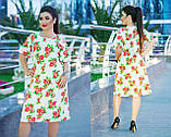 Платье трапецевидное, легкое, свободное, летнее платье, три цвета, р.50,52,54,56,58,60  код 5654О, фото 2