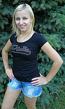 Жіноча футболка копія philipp plein