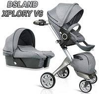 Детская коляска DSLandXplory V6 2в1 Gray (Серая) Аналог Stokke Прогулочный блок + люлька, фото 1