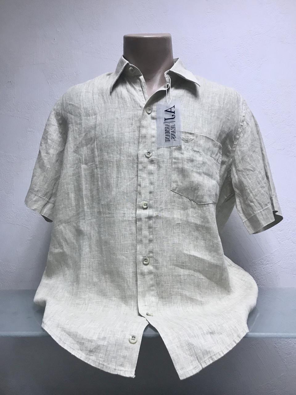Рубашка в стиле J Armani мужская лен .