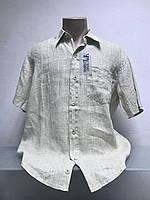 Рубашка в стиле J Armani мужская лен ., фото 1