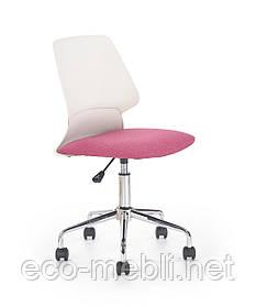 Дитяче поворотне крісло Skate biało-różowy Halmar