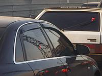 Дефлекторы окон (ветровики) с хром полосой (кантом-молдингом) Audi A4 B7 (ауди а4 б7) 2004-2008