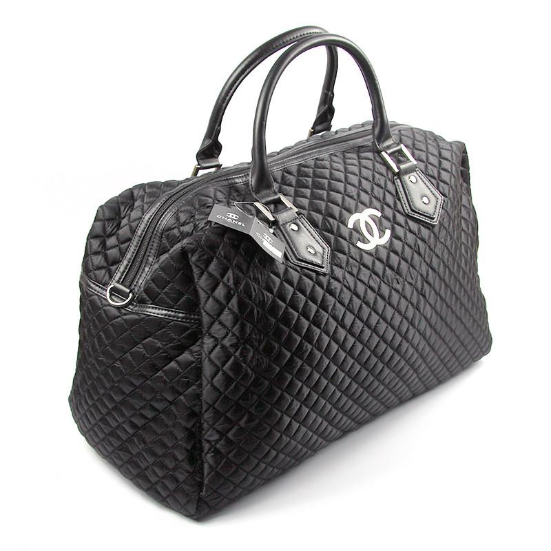 Сумка дорожная текстильная женская черная 5340
