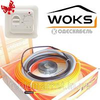 Теплый пол WOKS 10 600 Вт (4-7,5 кв.м), тонкий двухжильный кабель, длина 64 м