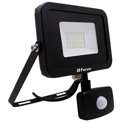 Светодиодный прожектор Feron LL-802 20W с датчиком движения