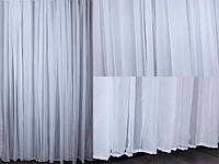Тюль шифон белый однотонный , вуаль, фото 1