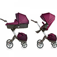 Детская коляска DSLandXplory V6 2в1 Purple (Фиолетовая) Аналог Stokke Прогулочный блок + люлька