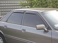 Дефлекторы окон (ветровики) с хром полосой (кантом-молдингом)Audi 80 B3, B4 (ауди 80 б3, б4) 1986-1995
