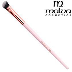 Malva Кисть для макияжа розовая M-310 №08 овальная скошенная для смешивания и растушевки теней