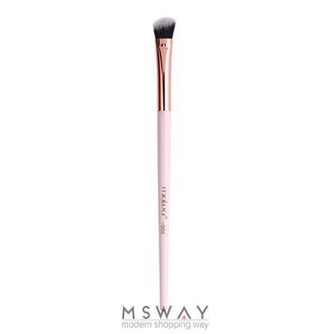Malva Кисть для макияжа розовая M-310 №08 овальная скошенная для смешивания и растушевки теней, фото 2