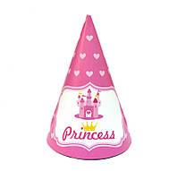 """Колпак праздничный 15 см, """"Принцессы сердечки"""""""
