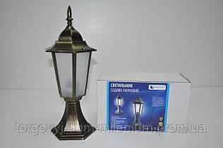 Светильник садово-парковый бронза с матовым стеклом Synergy НТУ06