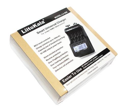 Зарядное устройство LiitoKala Lii-500, Black, 4xAA/AAA/C Ni-MH/Ni-Cd, 18650/26650 Li-Ion, фото 2