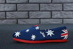 Женские Мокасины Toms Blue Australia (реплика)