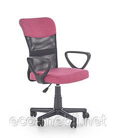 Дитяче поворотне крісло Timmy różowo-czarny Halmar