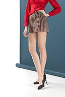 Женская юбка-шорты в актуальную клетку, с декоративными пуговицами от DZAN 42