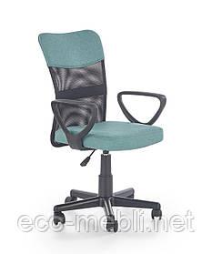 Дитяче поворотне крісло Timmy turkusowo-czarny Halmar
