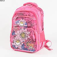 d4cb04e47c48 Качественный школьный рюкзак для девочек с цветами - розовый - 6617