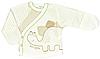 Ля-ля, Распашонка 1Т04ф (6-99) р.56,62 футер, бежевая полоска