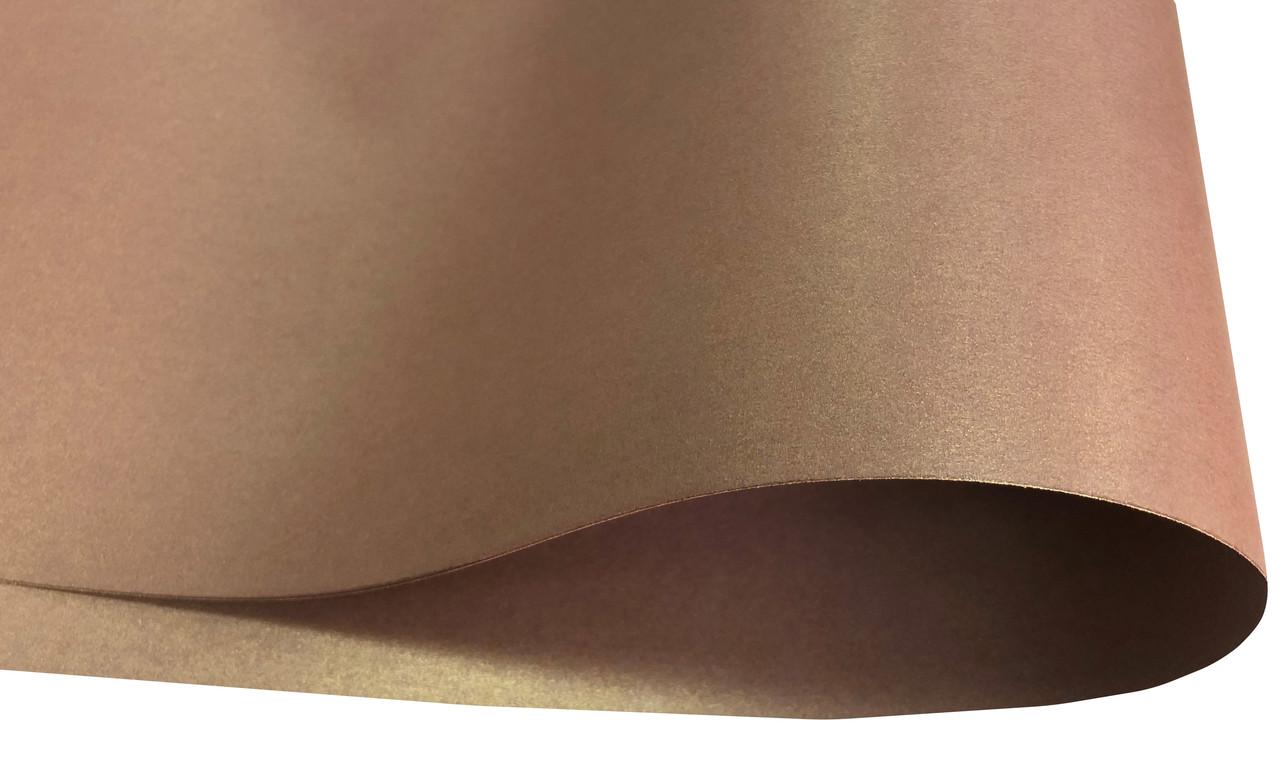 Дизайнерский картон Weight, перламутровый коричневый, 250 гр/м2