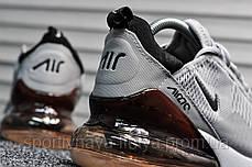 Мужские кроссовки Air Max 270 Silver / Dark Bordo (Найк Аир Макс 270 (Реплика Топ качества ), фото 2