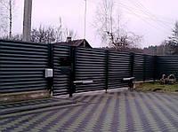 Розпашні ворота жалюзі з ламелей 3000х2000, фото 1