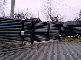 Распашные ворота жалюзи из ламелей 3000х2000