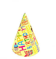 """Колпак праздничный 15 см,""""Happy Birthday"""""""