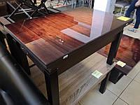 Стол трансформер Флай  венге магия со стеклом 15_047, журнально - обеденный