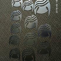 """Акриловые наклейки в ванную, на стены """"зеркальные полосатые рыбки 6шт """" клеятся на двусторонний скотч, фото 3"""